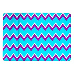 Chevron Pattern Background Blue Samsung Galaxy Tab 10 1  P7500 Flip Case