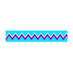 Chevron Pattern Background Blue Flano Scarf (mini) by Jojostore