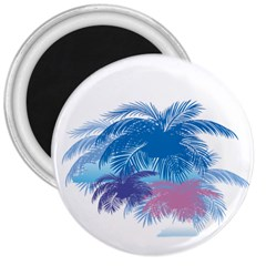 Coconut Tree Background 3  Magnets