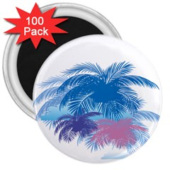 Coconut Tree Background 3  Magnets (100 Pack)