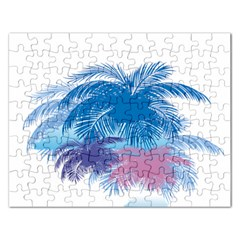 Coconut Tree Background Rectangular Jigsaw Puzzl