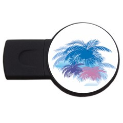 Coconut Tree Background Usb Flash Drive Round (4 Gb)
