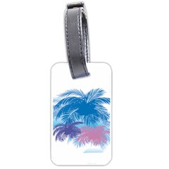 Coconut Tree Background Luggage Tags (one Side)