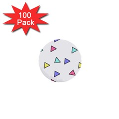 Color Triangle Wallpaper 1  Mini Buttons (100 Pack)  by Jojostore