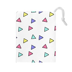 Color Triangle Wallpaper Drawstring Pouch (large)
