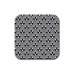 Background Triangle Circle Rubber Square Coaster (4 Pack)