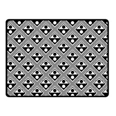 Background Triangle Circle Fleece Blanket (small) by Jojostore