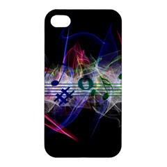 Brush Particles Music Clef Wave Apple Iphone 4/4s Premium Hardshell Case