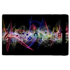 Brush Particles Music Clef Wave Apple Ipad 2 Flip Case by Jojostore