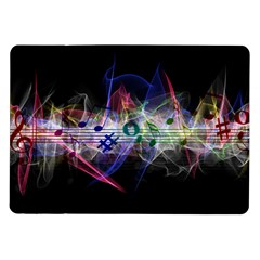 Brush Particles Music Clef Wave Samsung Galaxy Tab 10 1  P7500 Flip Case by Jojostore