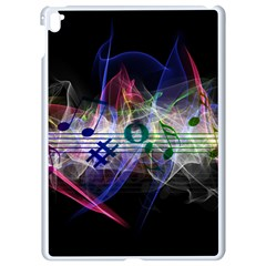 Brush Particles Music Clef Wave Apple Ipad Pro 9 7   White Seamless Case