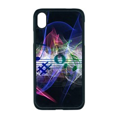 Brush Particles Music Clef Wave Apple Iphone Xr Seamless Case (black)