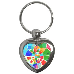 Circle Background Key Chains (heart)