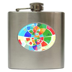 Circle Background Hip Flask (6 Oz) by AnjaniArt