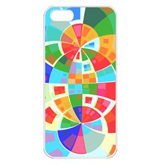 Circle Background Apple Iphone 5 Seamless Case (white) by AnjaniArt