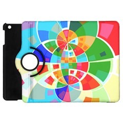 Circle Background Apple Ipad Mini Flip 360 Case by AnjaniArt
