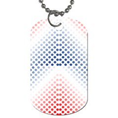 Dots Pointillism Abstract Chevron Dog Tag (two Sides) by AnjaniArt