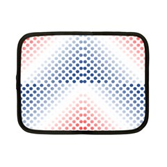 Dots Pointillism Abstract Chevron Netbook Case (small)