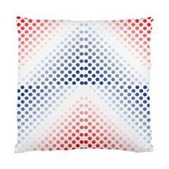 Dots Pointillism Abstract Chevron Standard Cushion Case (one Side) by AnjaniArt
