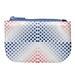 Dots Pointillism Abstract Chevron Large Coin Purse