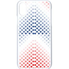 Dots Pointillism Abstract Chevron Apple Iphone Xs Seamless Case (white) by AnjaniArt