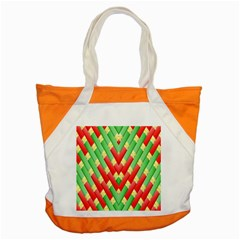 Christmas Geometric Accent Tote Bag by AnjaniArt