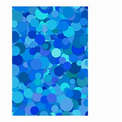 Blue Light Cyan Background Dot Small Garden Flag (two Sides) by AnjaniArt