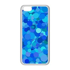 Blue Light Cyan Background Dot Apple Iphone 5c Seamless Case (white)