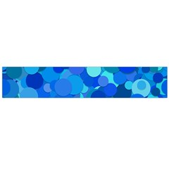 Blue Light Cyan Background Dot Large Flano Scarf  by AnjaniArt