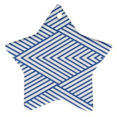 Directional Lines Stripes Movement Star Ornament (two Sides)