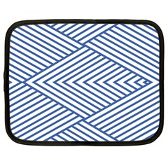 Directional Lines Stripes Movement Netbook Case (large) by AnjaniArt