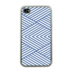 Directional Lines Stripes Movement Apple Iphone 4 Case (clear)