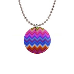 Chevron Zigzag Background 1  Button Necklace