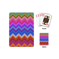 Chevron Zigzag Background Playing Cards (mini)