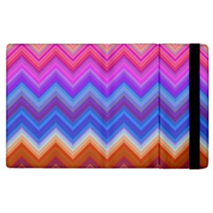 Chevron Zigzag Background Apple Ipad 2 Flip Case by AnjaniArt