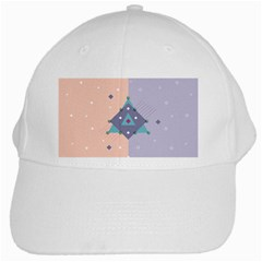 Geometry Figures White Cap by AnjaniArt
