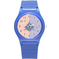 Geometry Figures Round Plastic Sport Watch (s)