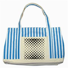 Garden Halftone Paving Striped Blue Tote Bag