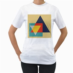 Form Abstract Modern Color Women s T Shirt (white) (two Sided) by AnjaniArt