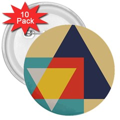 Form Abstract Modern Color 3  Buttons (10 Pack)