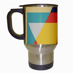 Form Abstract Modern Color Travel Mugs (white)