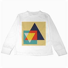 Form Abstract Modern Color Kids Long Sleeve T Shirts by AnjaniArt