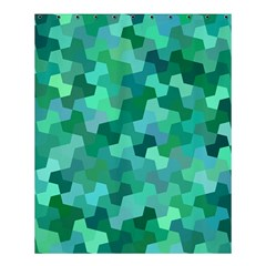 Green Mosaic Geometric Background Shower Curtain 60  X 72  (medium)