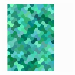 Green Mosaic Geometric Background Small Garden Flag (two Sides)