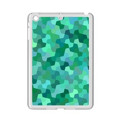 Green Mosaic Geometric Background Ipad Mini 2 Enamel Coated Cases by AnjaniArt