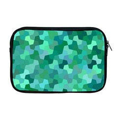 Green Mosaic Geometric Background Apple Macbook Pro 17  Zipper Case by AnjaniArt