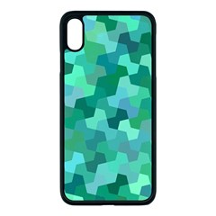 Green Mosaic Geometric Background Apple Iphone Xs Max Seamless Case (black) by AnjaniArt