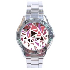 Geometric Elements Stainless Steel Analogue Watch