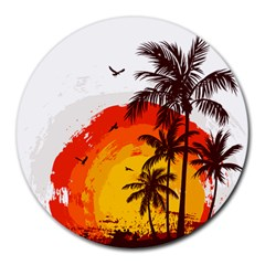 Coconut Tree Round Mousepads by Jojostore