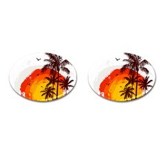 Coconut Tree Cufflinks (oval)